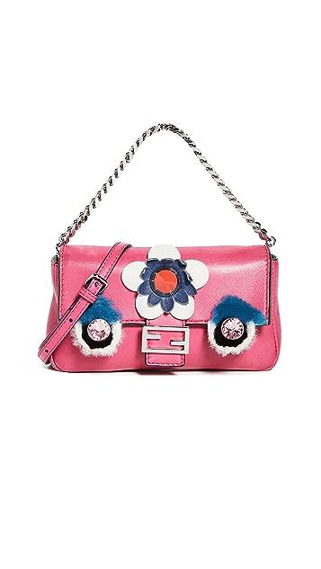 What Goes Around Comes Around Миниатюрная розовая прямоугольная сумка Monster от Fendi