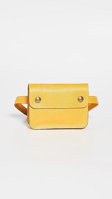 What Goes Around Comes Around Желтая поясная сумка Hermes Togo