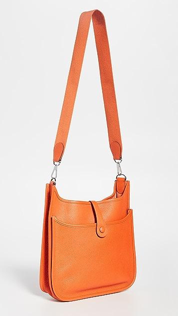 What Goes Around Comes Around Оранжевая сумка Hermes Clem Evelyne II PM