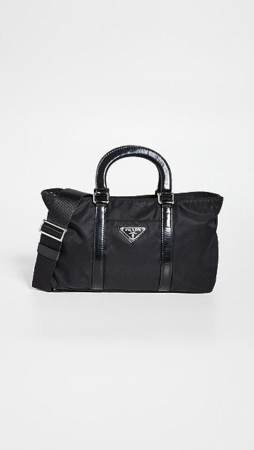 What Goes Around Comes Around Prada Black Nylon Mini Handbag
