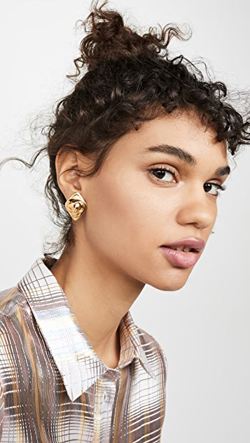 What Goes Around Comes Around Chanel Rectangle Earrings