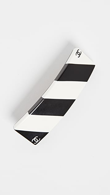 What Goes Around Comes Around Chanel Black/White Barrette
