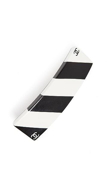 What Goes Around Comes Around Chanel Black/White Barrette
