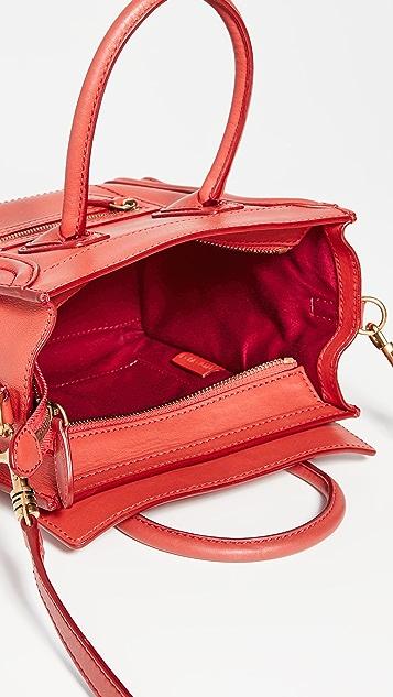 What Goes Around Comes Around Красная дорожная сумка Nano Celine из гладкой кожи