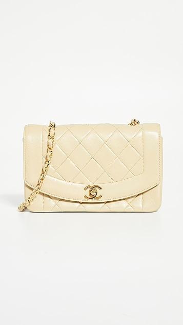 What Goes Around Comes Around Бежевая классическая сумка на ремне Chanel 9
