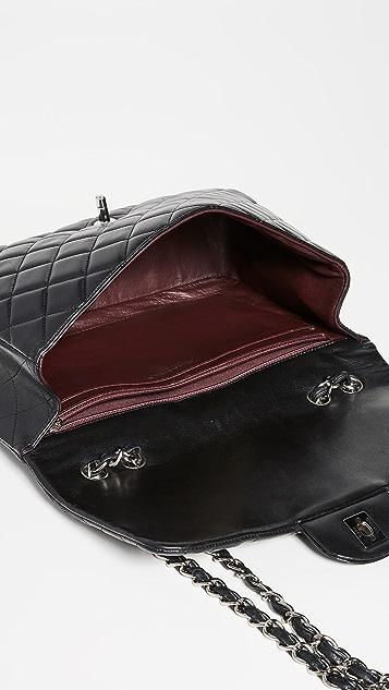 What Goes Around Comes Around Chanel Black Lambskin New Classic Jumbo Shoulder Bag