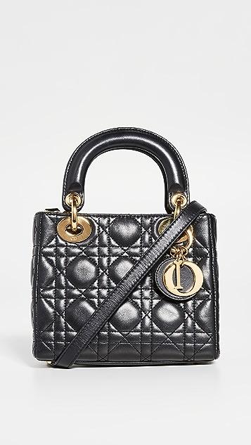 What Goes Around Comes Around Dior 黑色小绵羊皮 Lady Dior 迷你包