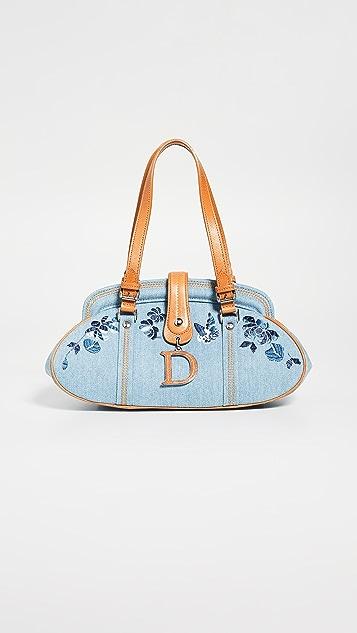 What Goes Around Comes Around Dior 蓝色牛仔布手提包