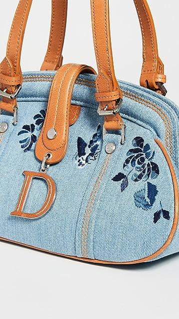 What Goes Around Comes Around Синяя сумка Dior из денима