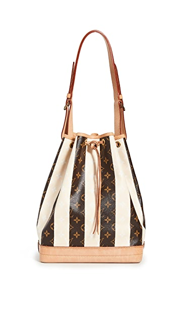 What Goes Around Comes Around Louis Vuitton Cream Rayures Bucket Bag