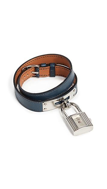 What Goes Around Comes Around Hermes Navy/S Kelly Double Watch