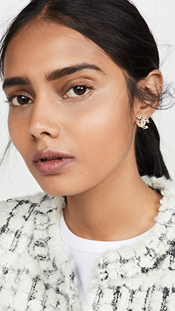 What Goes Around Comes Around Chanel Imitation Pearl Earrings