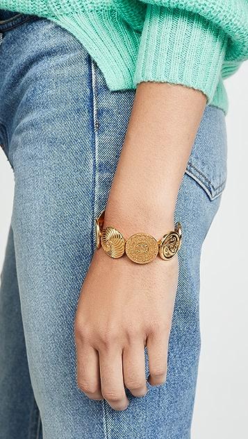 What Goes Around Comes Around Браслет-манжета Chanel с различными монетами