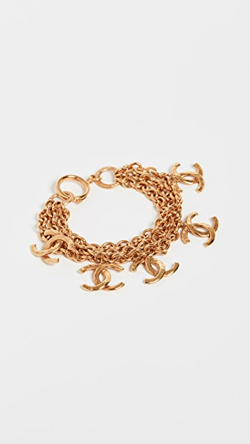 What Goes Around Comes Around Chanel G/Ridged CC Chain Bracelet