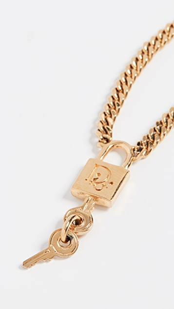 What Goes Around Comes Around Dior Lock Necklace