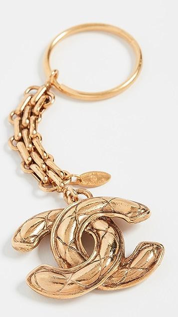 What Goes Around Comes Around Chanel Gold CC Keychain