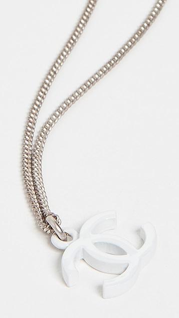 What Goes Around Comes Around Колье Chanel из белого серебра