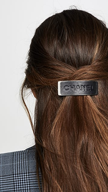 What Goes Around Comes Around Chanel Leather Hair Clip