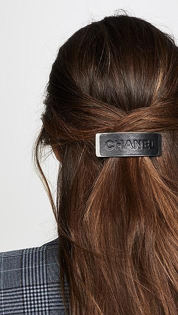 What Goes Around Comes Around Кожаная заколка для волос Chanel