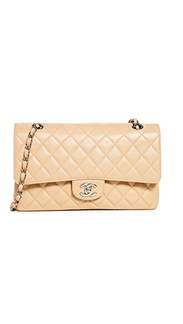 What Goes Around Comes Around Chanel Beige Caviar 2.55 10