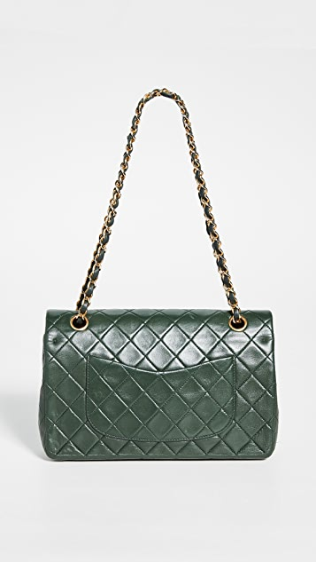 What Goes Around Comes Around Chanel Green Lambskin 2.55 10