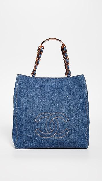 What Goes Around Comes Around Chanel Blue Medium Tote
