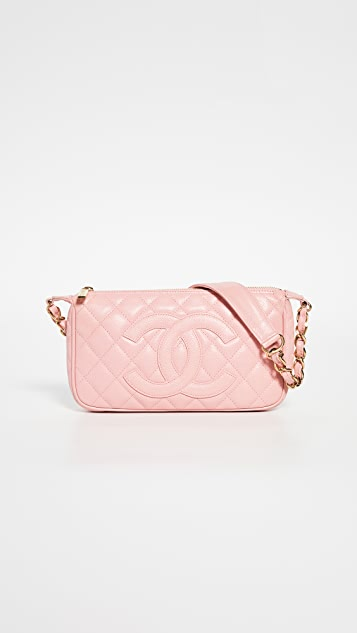 Chanel Pink Caviar Timeless Cc Pochette by What Goes Around Comes Around