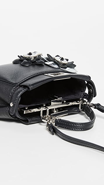 Fendi Black Micro Peekaboo Bag by What Goes Around Comes Around