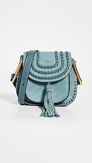 What Goes Around Comes Around Chloe Blue Suede Mini Hudson Bag