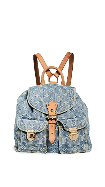 What Goes Around Comes Around Louis Vuitton 蓝色牛仔布中号双肩包