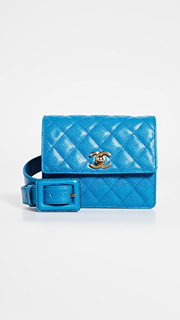 What Goes Around Comes Around Chanel Blue Caviar CC Belt Bag