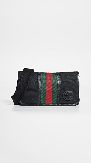 What Goes Around Comes Around Gucci Black Nylon Waist Pouch