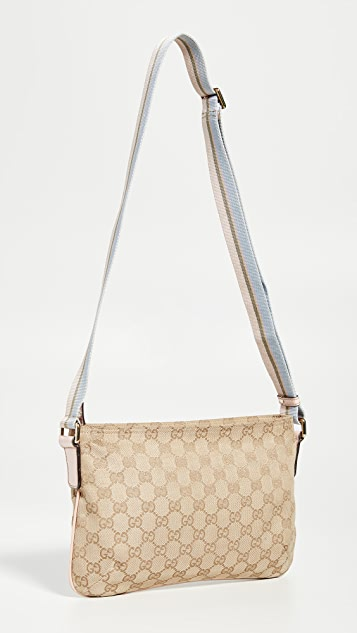 What Goes Around Comes Around Розовая холщовая сумка-портфель Gucci