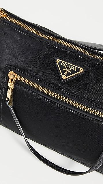 What Goes Around Comes Around Prada Black Tuessuto Shoulder Bag