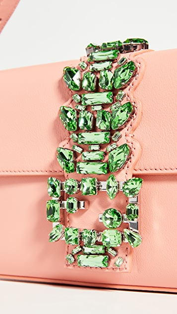What Goes Around Comes Around Fendi Pink Leather Embellished Baguette Bag