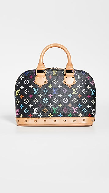What Goes Around Comes Around Louis Vuitton 黑色多色 Alma 中号包袋