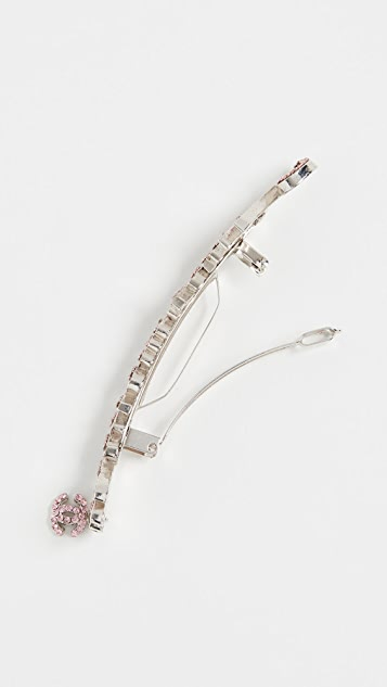 What Goes Around Comes Around Chanel Pink Crystal Hair Clip