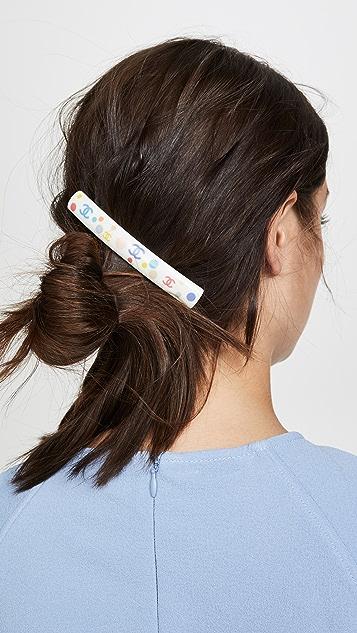 What Goes Around Comes Around Заколка для волос из разноцветного акрила Chanel с буквами «СС»
