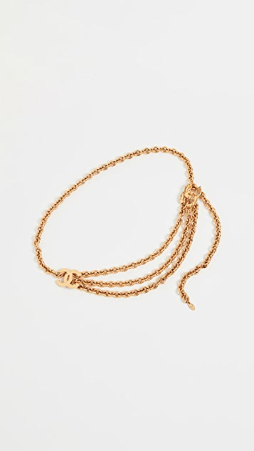 What Goes Around Comes Around Chanel Gold CC Chain Belt