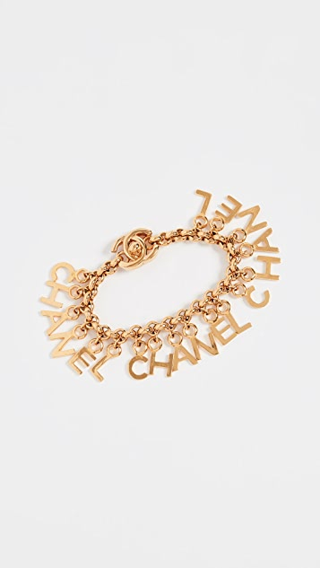 What Goes Around Comes Around Chanel Gold Letters Charm Bracelet