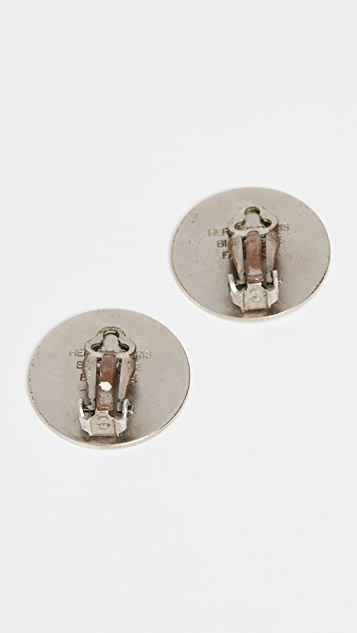 What Goes Around Comes Around Hermes Silver Cloudeselle Earrings