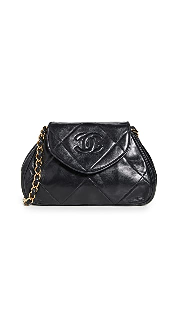 What Goes Around Comes Around Chanel Black Mini Shoulder Bag