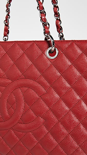 What Goes Around Comes Around Chanel Red Caviar Grand Shopping Tote
