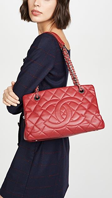 What Goes Around Comes Around Chanel Red Caviar Timeless CC Tote