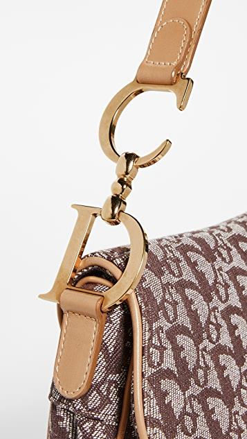 What Goes Around Comes Around Dior Brown Canvas Saddle