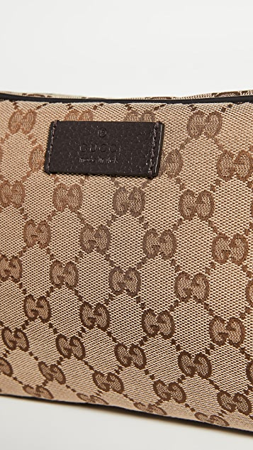 What Goes Around Comes Around Gucci Brown Canvas Belt Bag