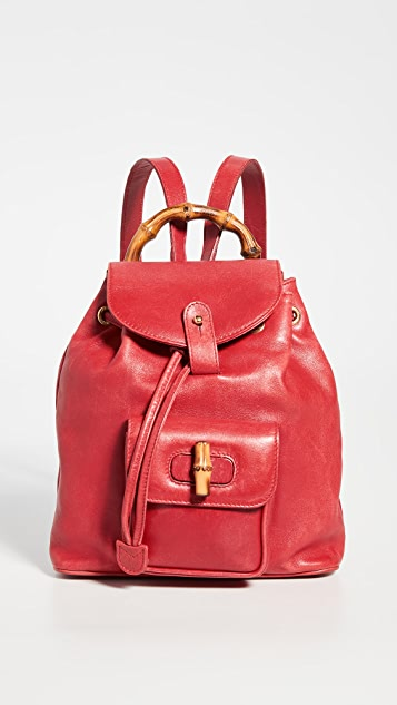 What Goes Around Comes Around Gucci Red Leather Backpack
