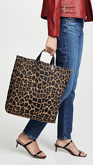 What Goes Around Comes Around Fendi Brown Leopard Tote