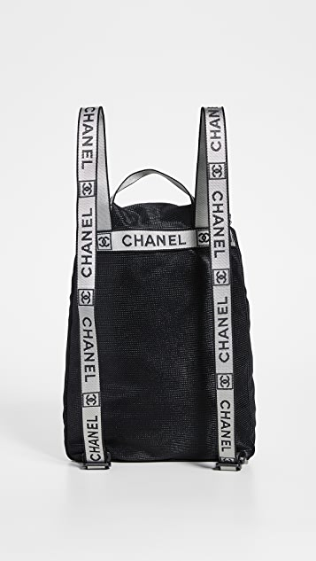 What Goes Around Comes Around Chanel Black Sportline Bacpack