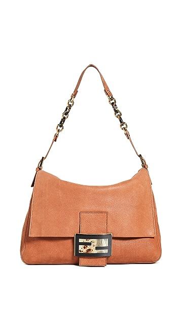 What Goes Around Comes Around Большая коричневая кожаная сумка Mama от Fendi
